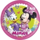 8 Papīra  Šķīvji  20 cm MINNIE HAPPY HELPERS DISNEY