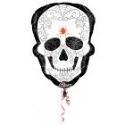 """Folijas hēlija balons Helovīniem """"Galvaskauss"""", izmērs 45 x 60 cm,"""