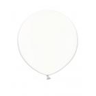 Apaļas formas liels lateksa balons caurspīdīgs, bezkrāsains, 90cm, pastelis, 1 gab.