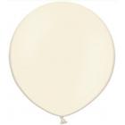 Apaļas formas liels lateksa balons vaniļas krāsa, 60cm, pastelis, 1 gab.
