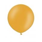 Apaļas formas liels lateksa balons oranžā krāsā, 90cm, pastelis, 1 gab.