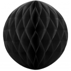 Šūnveida papīra bumba 30 cm melns