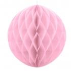 Šūnveida papīra bumba 30 cm rozā