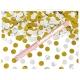 60 cm rokas plaukšķene ar zelta un sudraba konfeti diam.1.5 cm