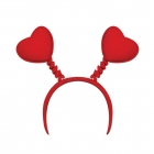 Sarkanie radziņi. sirdis karnevāla aksesuāri