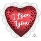 "Folija balons ""Sangrijas sarkana mīlestība"", sirds formas balons ar kruzuli, izmērs 58 cm"