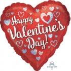 """Folija balons """"Valentīna Diena mirgošana"""", sirds formas, ar hologrāfisku spīdumu, 43 cm, hēlija apjoms 0.013 kbm"""