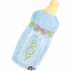 """Folijas hēlija balons """"Jaundzimušā pudelīte"""", gaiši zils, izmērs 79 cm,"""
