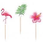 """Irbulīši-dekorācijas """"Flamingo Paradise"""", 20 gab., mikss no trim dizainiem"""
