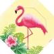 "Šķīvīši ""Flamingo Paradise"" 18 cm., 6 gab."