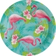 "Šķīvīši ""Flamingo Paradise"" 23 cm., 8 gab."