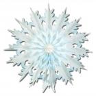 Papira sniegparsla, balta, 43 cm, 2 gab. iepakojuma