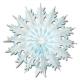 Новогодняя бумажная  декорация - Снежинка
