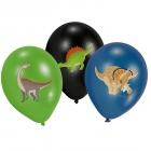 """Lateksa baloni ar krāsainu apdruku """"Laimīgs Dinozaurs"""" 28cm/11"""", 6 gab."""