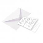 """Ielūgumu kartiņas un aploksnes """"Mazā balerīna"""", 8 gab."""