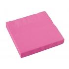 Salvetes, papīra, spilgti rozā, 33 x 33 cm, 20 gab