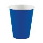 Glāzītes, papīra, tumši zilas, 266 ml, 8 gab