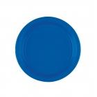 Šķīvīši, papīra, tumši zili, 18 cm, 8 gab