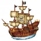Piekaramie rotājumi - Pirātu kuģis augstums 75 cm, 2 pusēs.