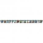 "Burtu baneris ""Blaze Happy Birthday"" 182 x 5 cm"