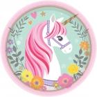8 Šķīvīši Magical Unicorn  18 cm