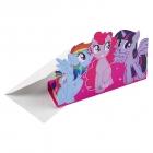 """8 Ielūgumu kartiņas un aploksnes """"My Little Pony"""""""