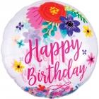 Caurspīdigs hēlija balons Dzimšanas dienai, rozā, ar konfeti, izmērs 73cm