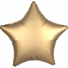 "Standard ""Satin Luxe Gold Sateen"" foil balons ZVAIGZNE 43 cm"