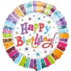 """Standard """"Radiant Birthday Happy Birthday """" foil baloniņš 43 cm"""