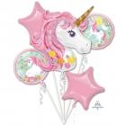 """5 hēlija balonu komplekts  """"VIENRADZIS"""",  1 balons x 80 cm. un 4 baloni x 45 cm,"""