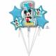 Pušķis Pirmā dzimšanas diena MIKI PELE 5 baloni ar hēliju