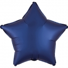 """Zvaigznes formas folijas balons """"Satin Luxe JŪRAS Zila krāsa"""", iepakots, 43cm"""