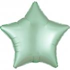 """Zvaigznes formas folijas balons """"Satin Luxe ZAĻĀ PIPARMĒTRA krāsa"""", iepakots, 43cm"""