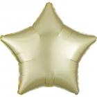 """Zvaigznes formas folijas balons """"Satin Luxe  PASTEĻDZELTENA krāsa"""", iepakots, 43cm"""