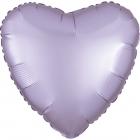 """Sirds formas folijas balons """"Satin Luxe  CERIŅKRĀSA"""", iepakots, 43cm"""
