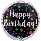 """Apaļš folijas balons """"Dzimšanas Diena""""  43 cm"""