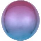 Apaļš folijas  balons, violeti-zils ar ombré efektu,  Orbz ®, diametrs 43 cm, piepūšams ar hēliju