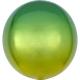 ORBZ DZELTENA un ZAĻA krāsas apaļa balons