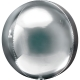 ORBZ sudraba krāsa apaļa balons