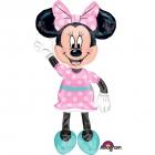 """Staigājošs folijas balons """"Pelīte Minnija / Minnie Mouse"""", izmērs 137 x 96 cm"""