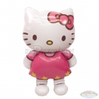 """Staigājošs folijas balons """"Hello Kitty"""", izmērs 127 x 76cm"""