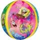 """Apaļš folijas  balons """"Sūklis Bobs Kvadrātbiksis"""",  Orbz ®, diametrs 43 cm, piepūšams ar hēliju"""