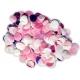 Konfeti rozā toņu maisījums, Folija un papīrs.15 gr