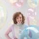 Balons CRYSTAL CLEARZ©, Apaļš, caurspīdīgs gaiši dzeltens balons. Izmērs 45+ cm.