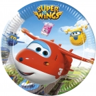 8 Papīra  Šķīvji  23 cm SUPER WINGS