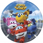 8 Papīra  Šķīvji  20 cm SUPER WINGS