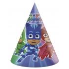 6 cepures  PJ MASKS ENTERTAINMENT  svētku atribūtika