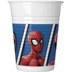 Plastmasas glāzes 8.gab SPIDERMAN TEAM UP MARVEL