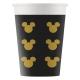 Papīra glāzes MICKEY GOLD 8.gab 200 ml