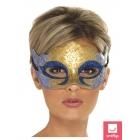 Karnevāla acu maska, ar spīdumiņiem Venēcijas stilā